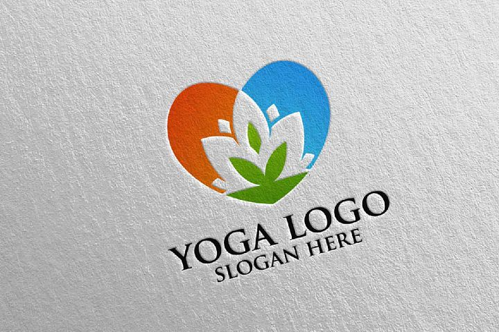 Yoga and Spa Lotus Flower logo 4