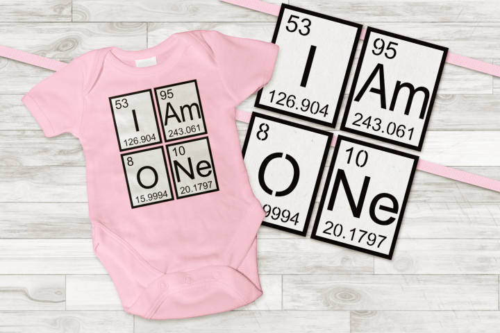 I am One Banner and Birthday Shirt SVG and PDF
