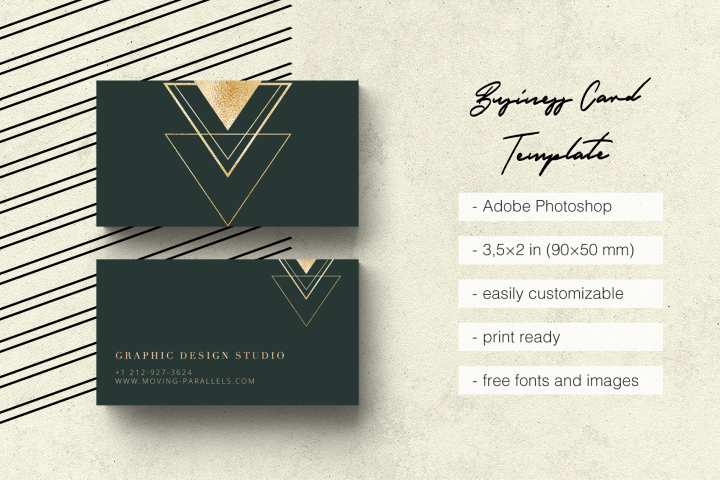 Elegant Gold Business Card 3