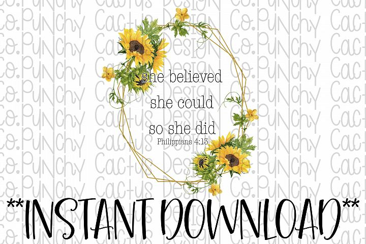 She Believed She Could So She Did Sublimation Download