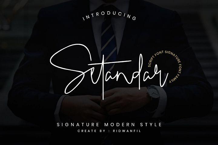 Setandar Font Family - Signature Script Modern Style
