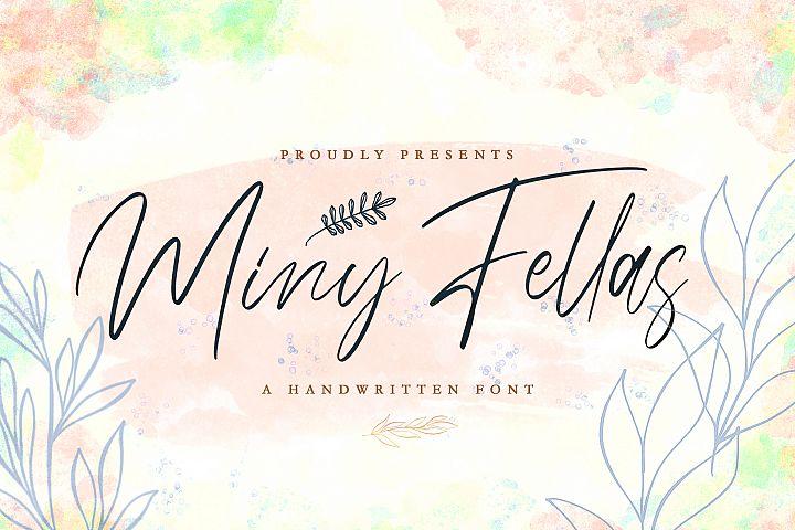 Miny Fellas - Modern Handwritten Font