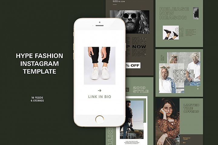 Hype Fashion Instagram Templates