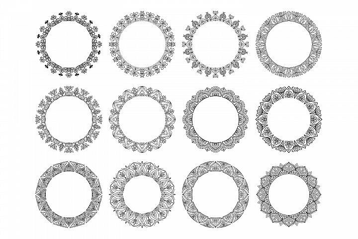Mandala Floral Frames - Vector