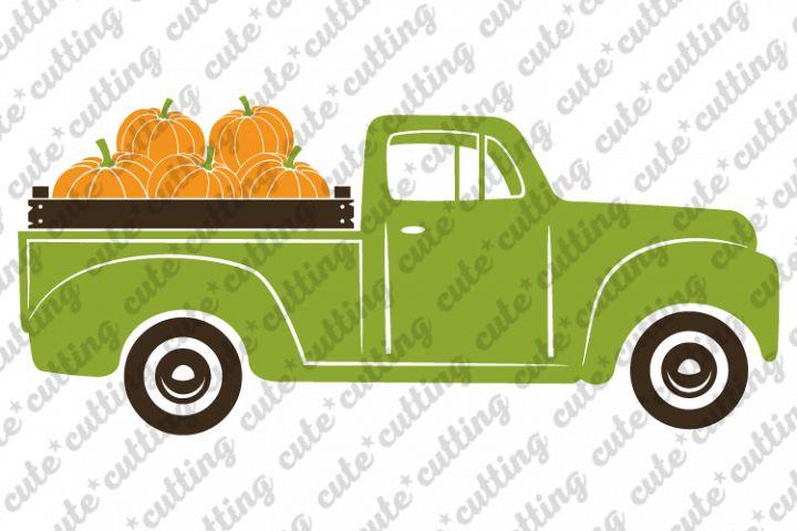 Pumpkin truck svg, truck with pumpkins svg, png, dxf, pdf