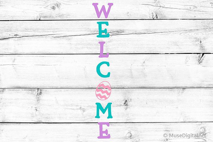 Welcome Svg, Easter Porch Sign Svg, Easter Svg, Welcome Sign