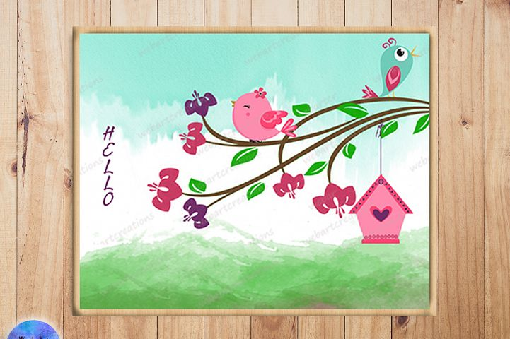 Tree & Bird Illustration