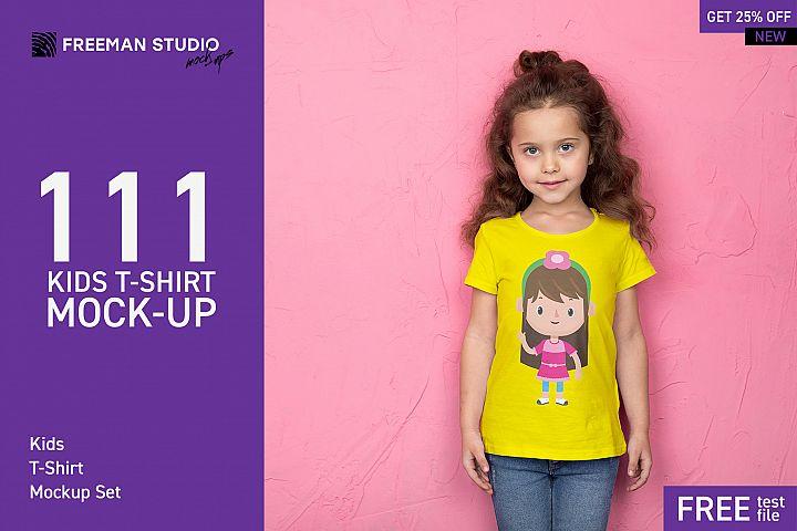 111 Kids T-Shirt Mock-Up Set
