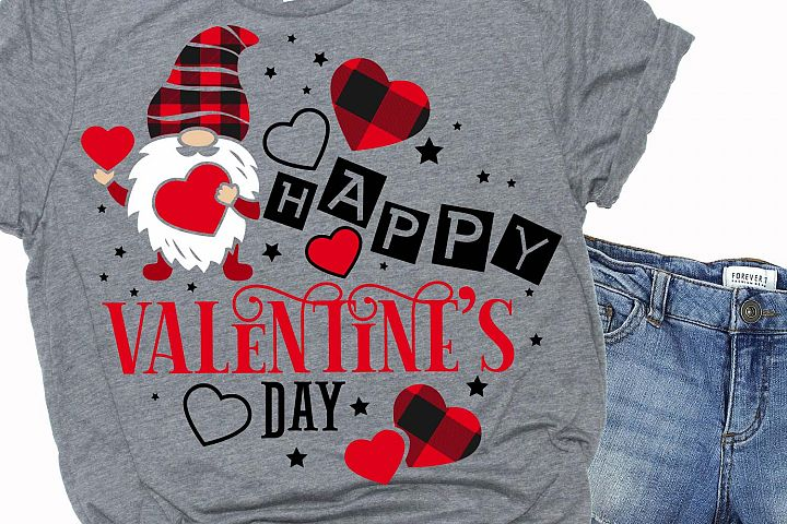 Happy valentines day quote, svg, gnome,love,heart