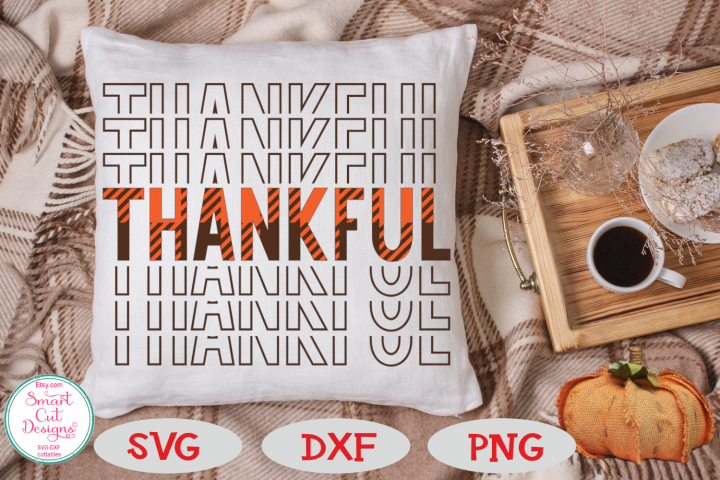 Thankful SVG. Mirrored, Buffalo Plaid SVG, Thanksgiving SVG
