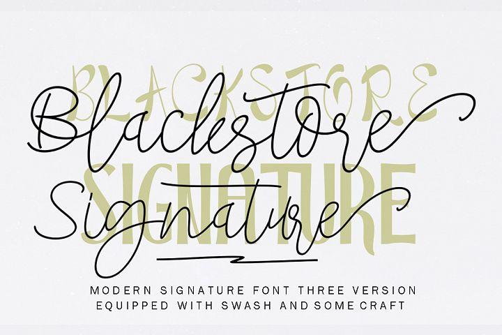 Blackstore Signature Three Version