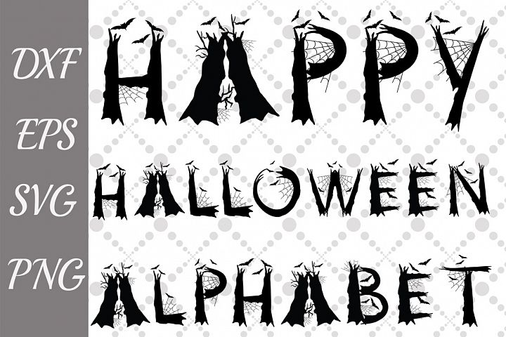 Halloween Alphabet Svg ,SCARY LETTERS SVG. Halloween Letters