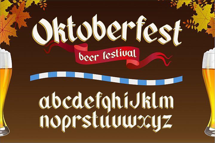 Oktoberfest. OTF gothic font.
