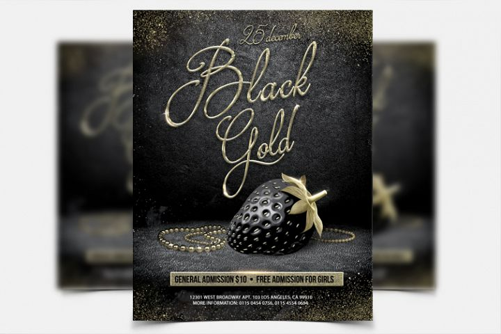 Black And Gold Party - PSD Flyer Template