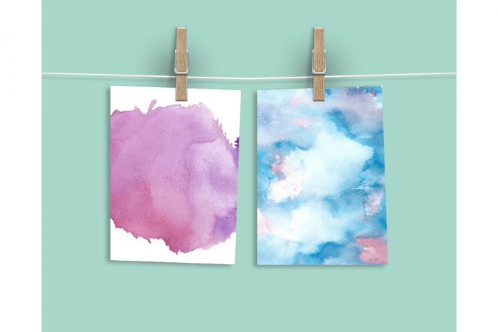 Watercolor Textures - card edition - Free Design of The Week Design 11
