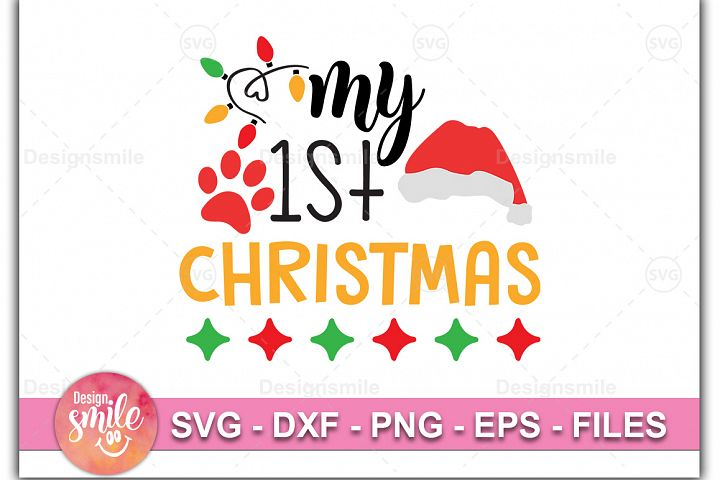 My 1st Christmas SVG DXF PNG EPS Cutting Files