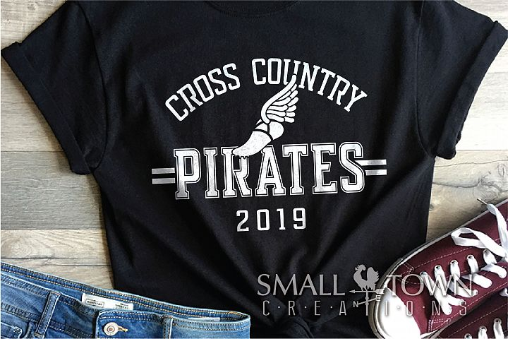 Pirate Cross Country, Sports, Logo, PRINT, CUT & DESIGN