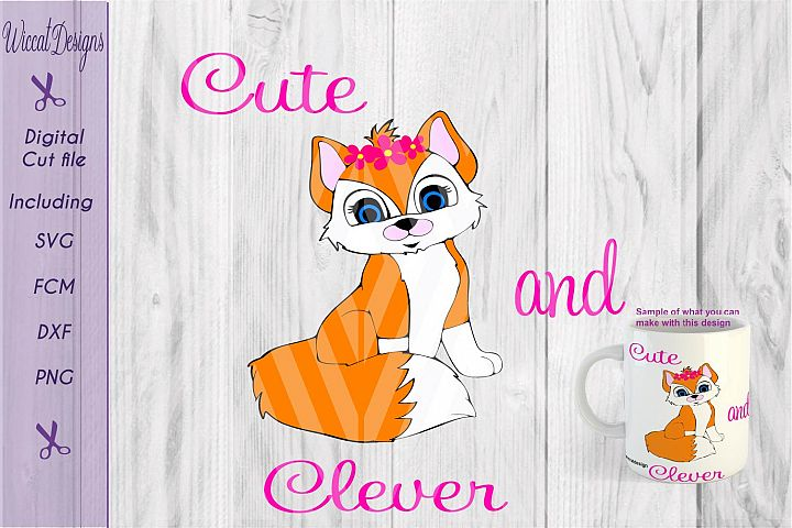 Fox girl svg, Cute clever svg, Woodland svg, animals cut file