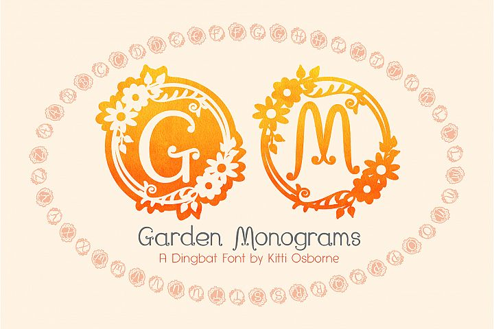 Garden Monograms - Font