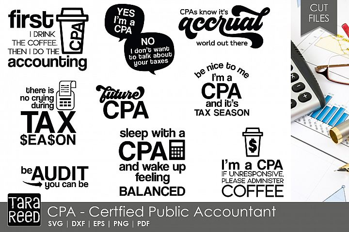 CPA - Certified Public Accountant SVG and Cut Files