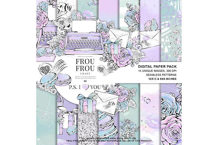 Valentine Cute Macaroon Love Letter Paper Pack