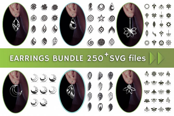 250 Faux leather earring, Botanical flower, Summer clipart