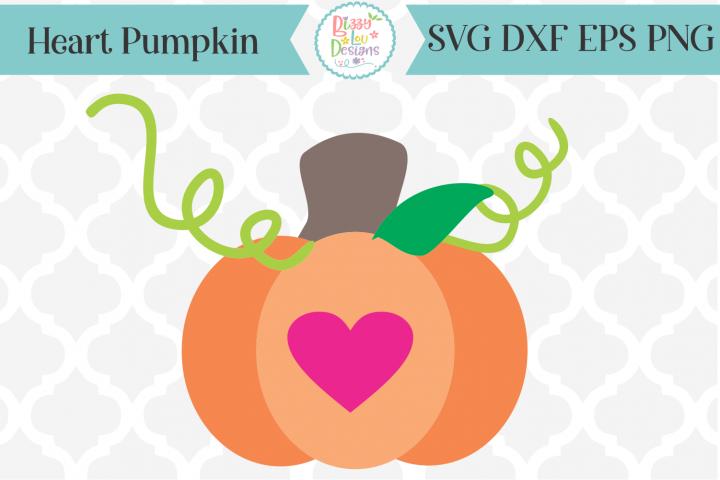 Pumpkin SVG - Fall SVG - Heart Pumpkin SVG