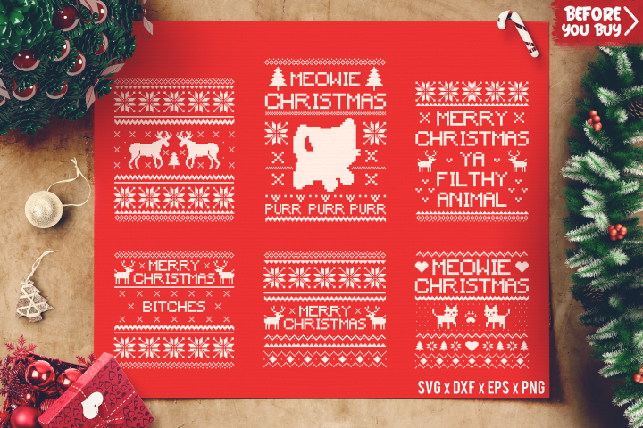 Christmas Sweater Bundle SVG - Ugly Sweater SVG cut files