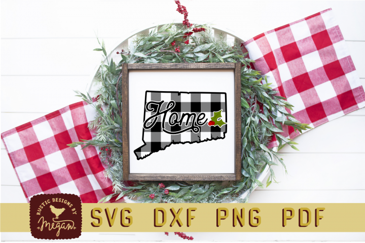 Connecticut Buffalo Plaid State SVG Bundle
