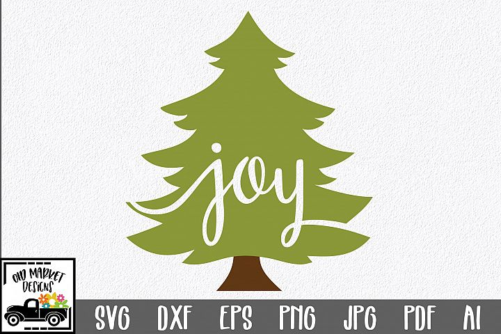 Christmas SVG Cut File - Joy SVG DXF EPS PNG PDF JPG