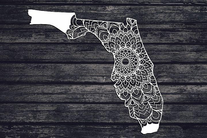 Florida Mandala Svg, Florida Svg, FL Svg, State Svg