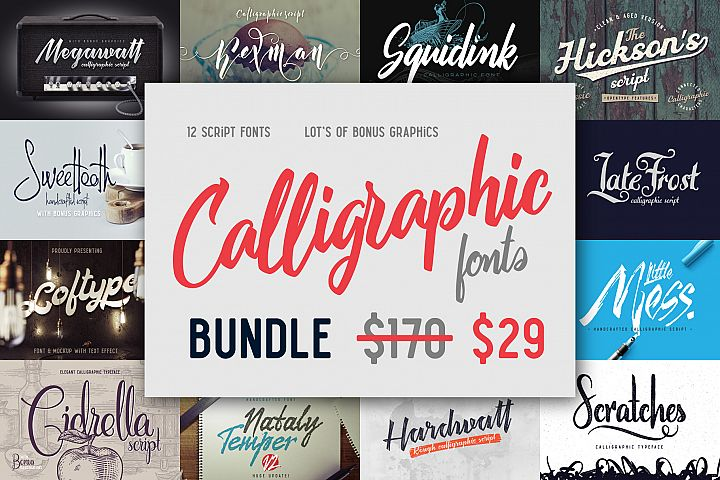 Calligraphic fonts Bundle