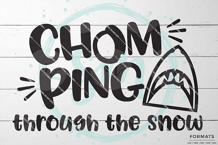 Chomping Through the Snow Boy Christmas SVG