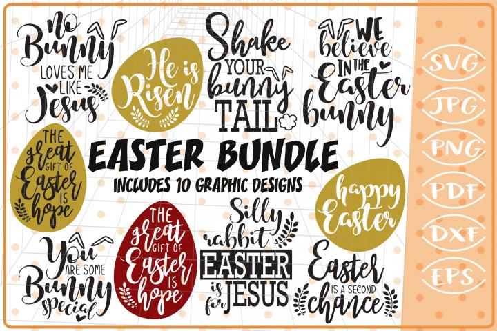 Easter Bundle 15 SVG Designs, Cutting File, Easter SVG files