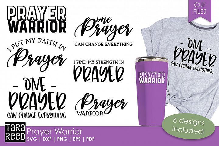 Prayer Warrior - Religious SVG and Cut Files for Crafters