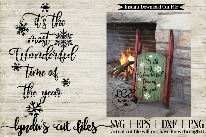 its the most Wonderful time of the year//Christmas//SVG//EP