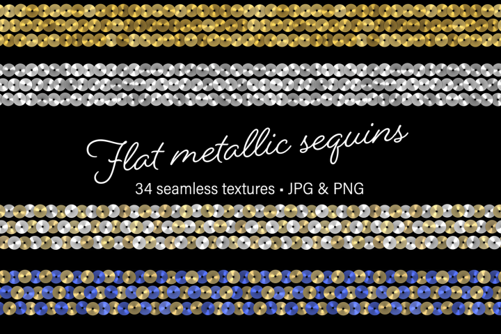Flat Metallic Sequins