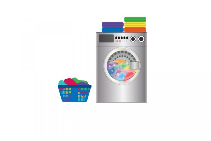 Washing machine and laundry