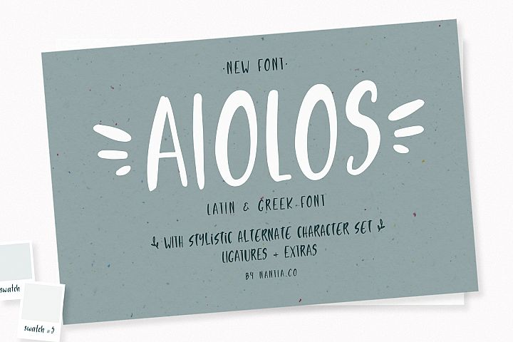 Aiolos Greek Font with extras