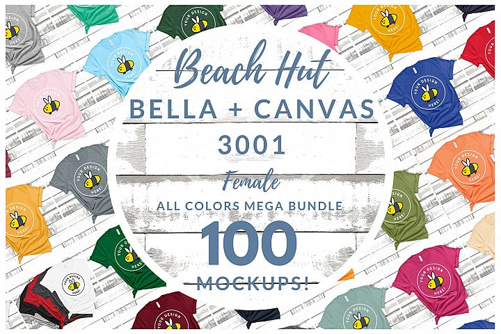 Womens Bella Canvas 3001 Mega Bundle All Colors Beach Hut