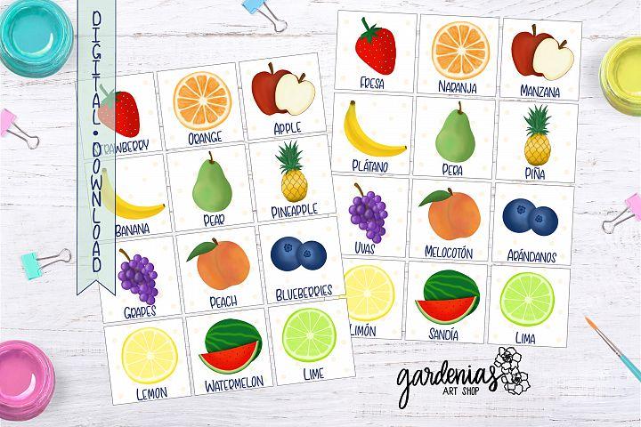 Fruit Memory Game | Printable Matching Game | Fruit Cards
