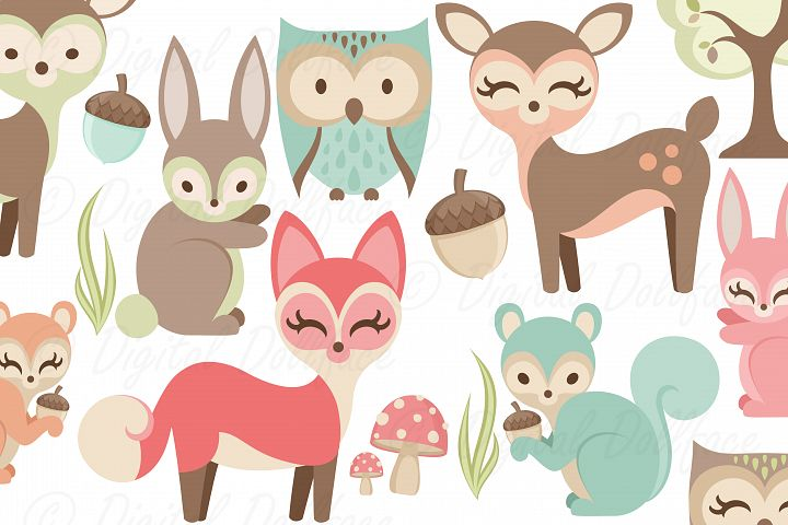Forest Friends Clipart Set