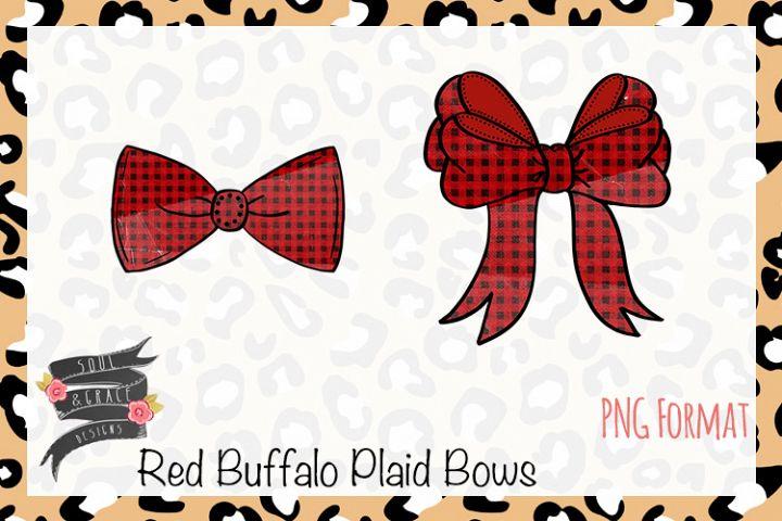 Red Buffalo Plaid Bows