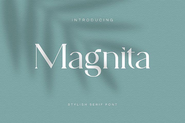 Magnita Serif Font