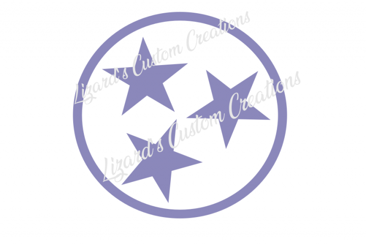 Tennessee Flag Tri Stars