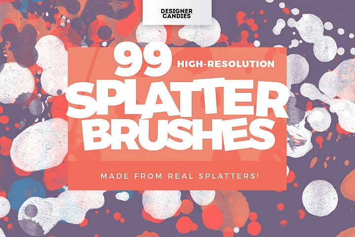 99 Splatter Brushes for Photoshop