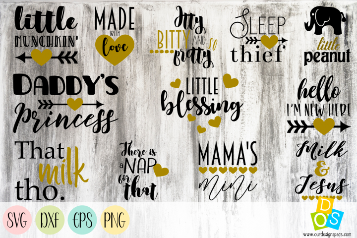 Baby Quotes SVG, PNG, DXF and EPS files for clothing