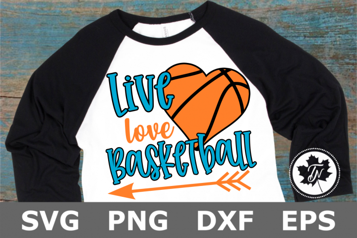 Live Love Basketball Heart - A Sports SVG Cut File