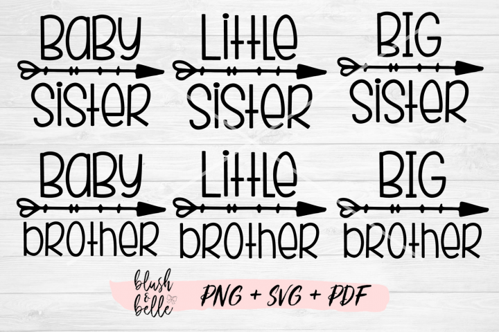 Sisters & Brothers Bundle - PNG, SVG, PDF