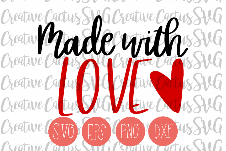Made with Love SVG